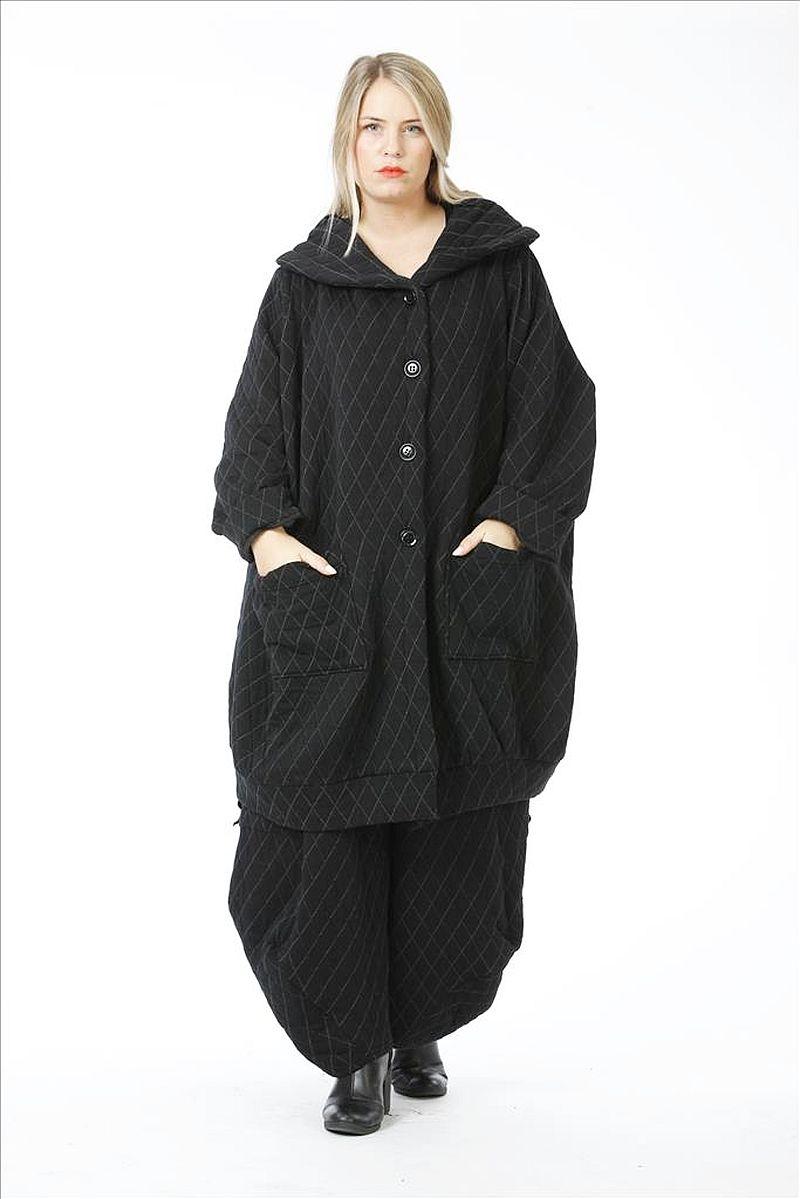 Lagenlook Jacke schwarz Herbst Winter von AKH Fashion