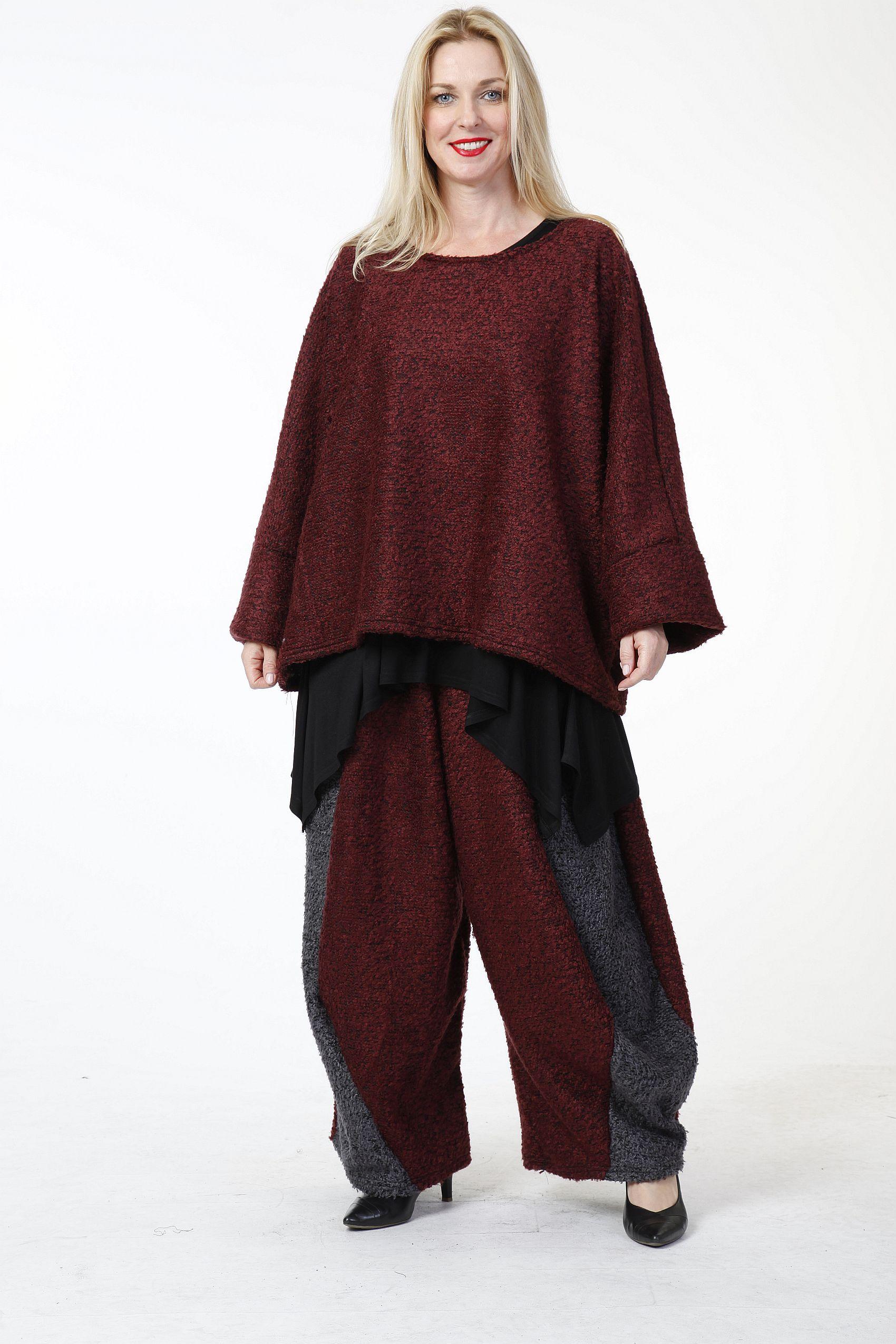 Lagenlook Pullover Herbst Winter große Größen 6 Farben von ...