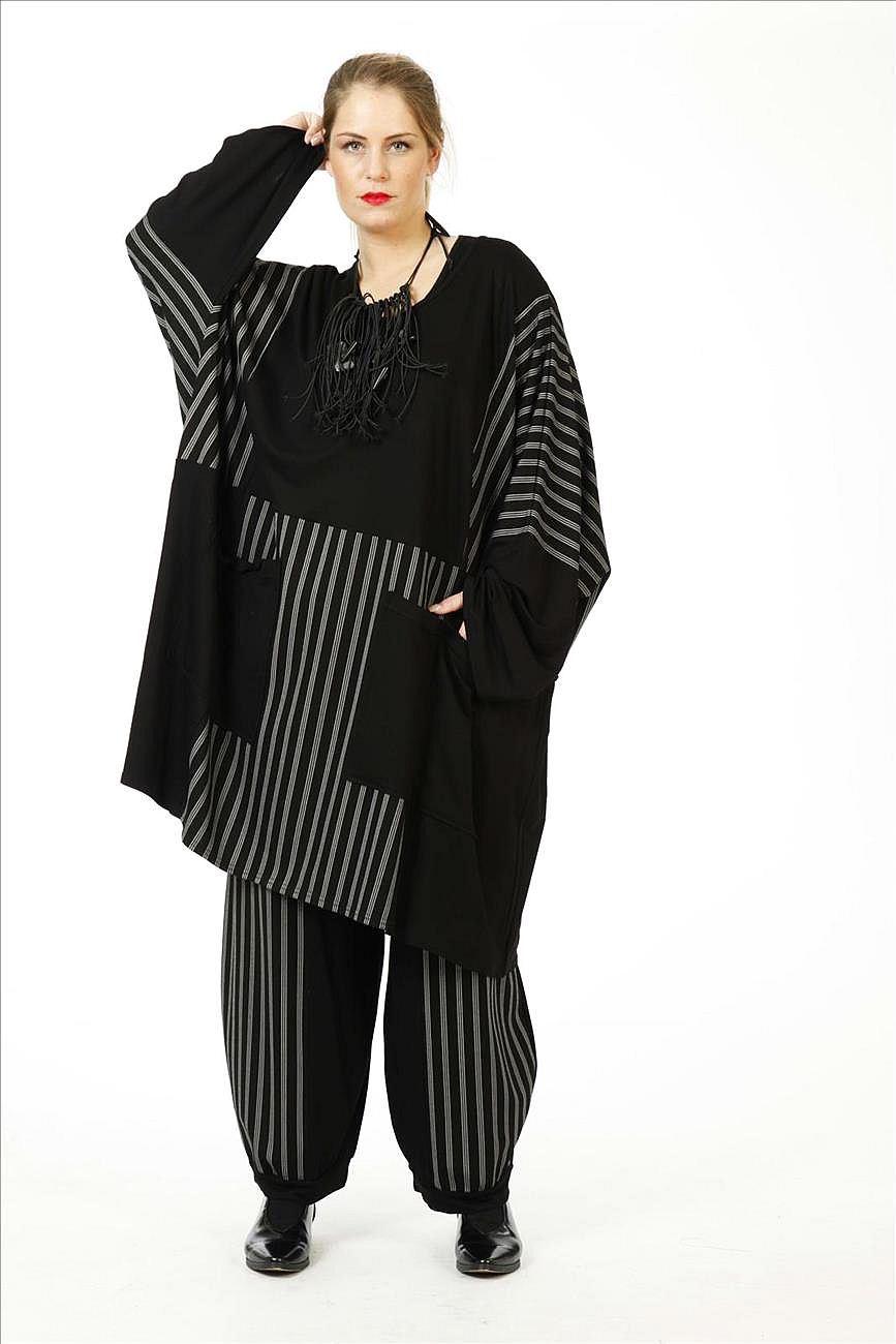 Lagenlook Tunika-Kleid Übergröße