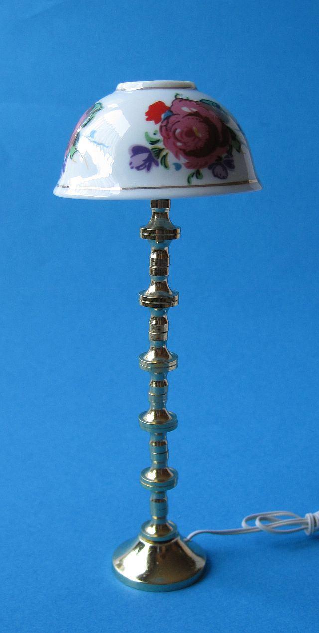 Stehlampe porzellanschirm puppenhaus m bel wohnzimmer for Lampen puppenhaus