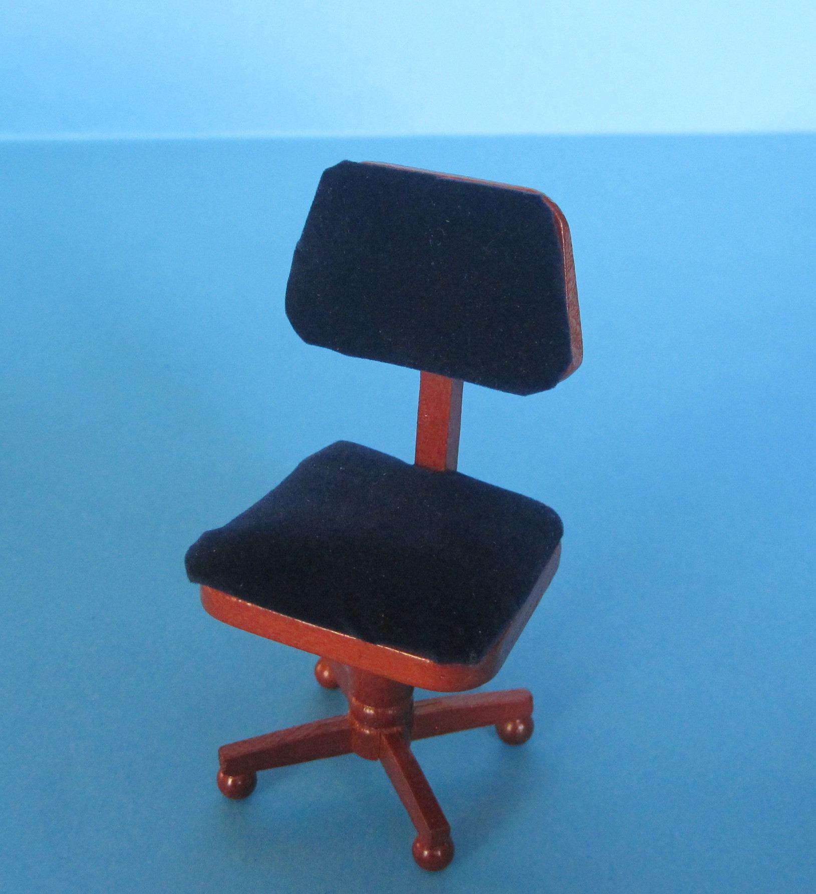b rostuhl f r arbeitszimmer oder b ro puppenhausm bel miniatur1 12 lafeo. Black Bedroom Furniture Sets. Home Design Ideas