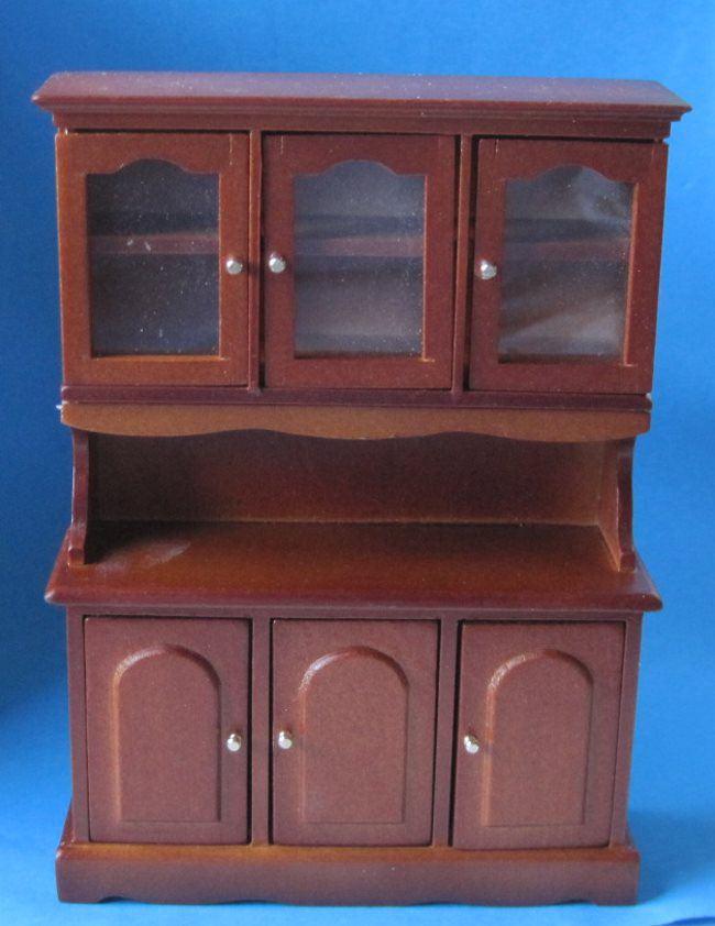 Kuechenschrank braun puppenhausmobel kuche miniaturen 112 for Küchenschrank zubeh r