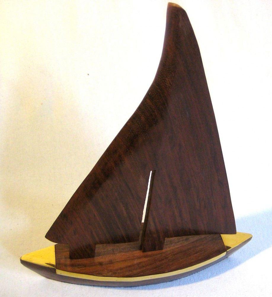 schiffsmodell segler aus holz und messing 28 cm maritime deko von. Black Bedroom Furniture Sets. Home Design Ideas