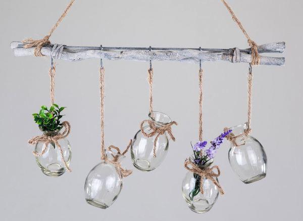 Deko Ast Zum Aufhängen formano deko zweig mit fünf vasen zum aufhängen 50 cm lafeo