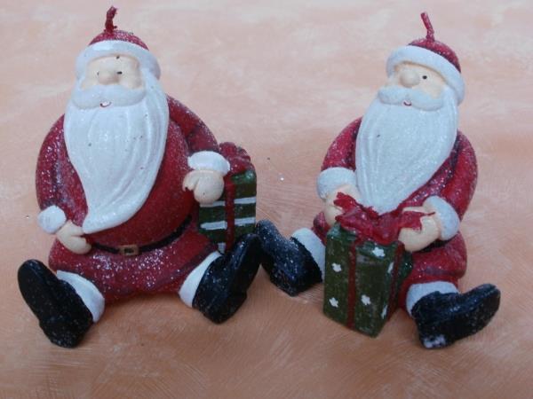 2 kerzen weihnachtsm nner ca 8 cm hoch weihnachtliche. Black Bedroom Furniture Sets. Home Design Ideas
