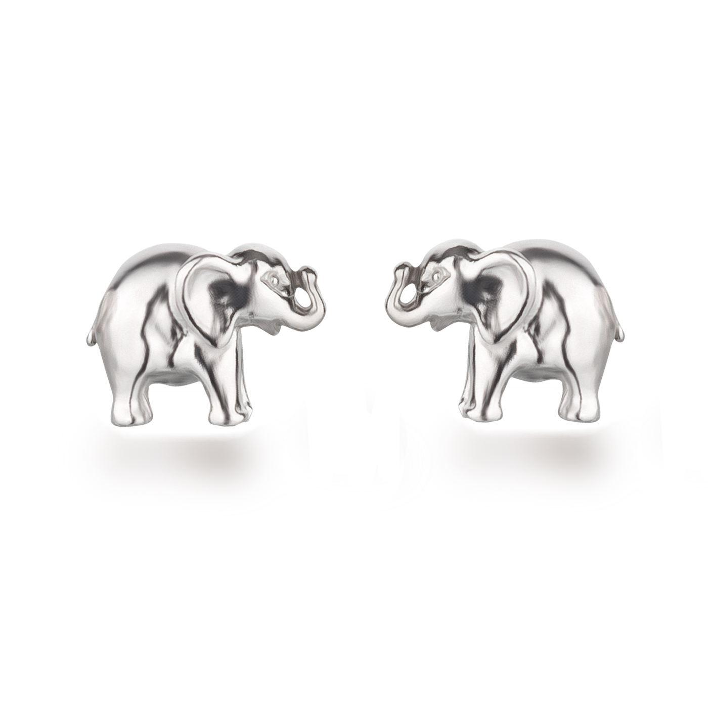 98785b34d38f Ohrstecker Elefant Motiv 925 Silber Rhodium Ohrringe für Kinder Mädchen    OS01-Elefant   EAN
