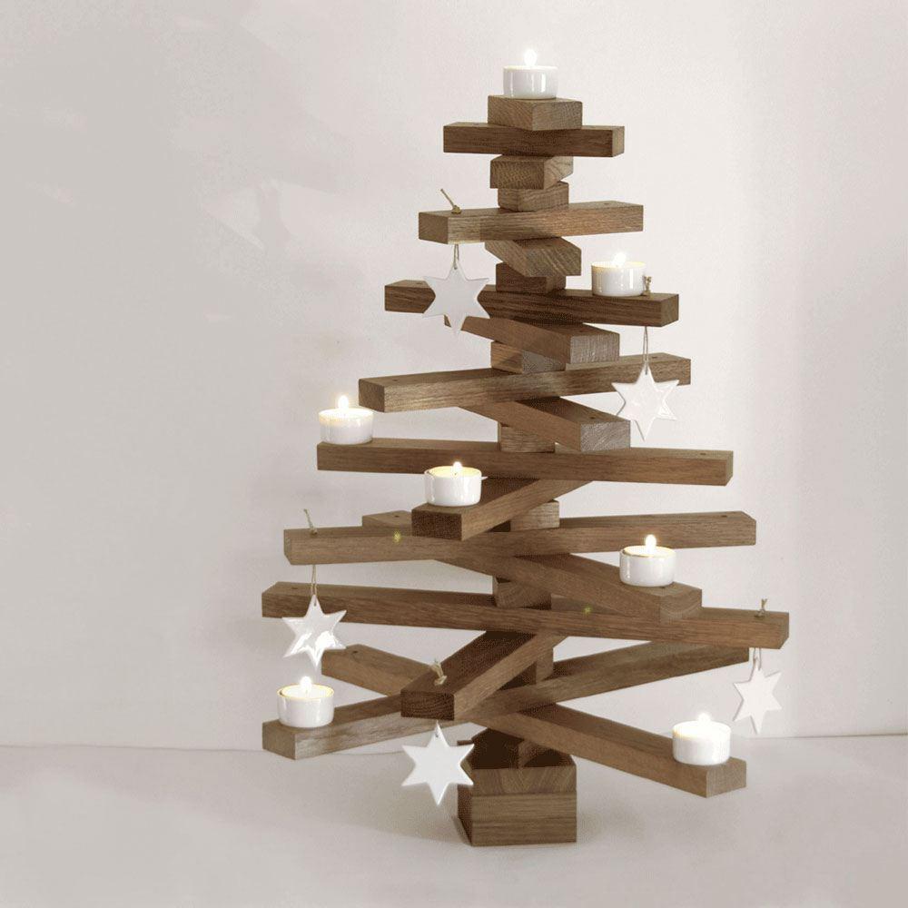 baumsatz bausatz f r einen weihnachtsbaum aus eiche von raumgestalt. Black Bedroom Furniture Sets. Home Design Ideas