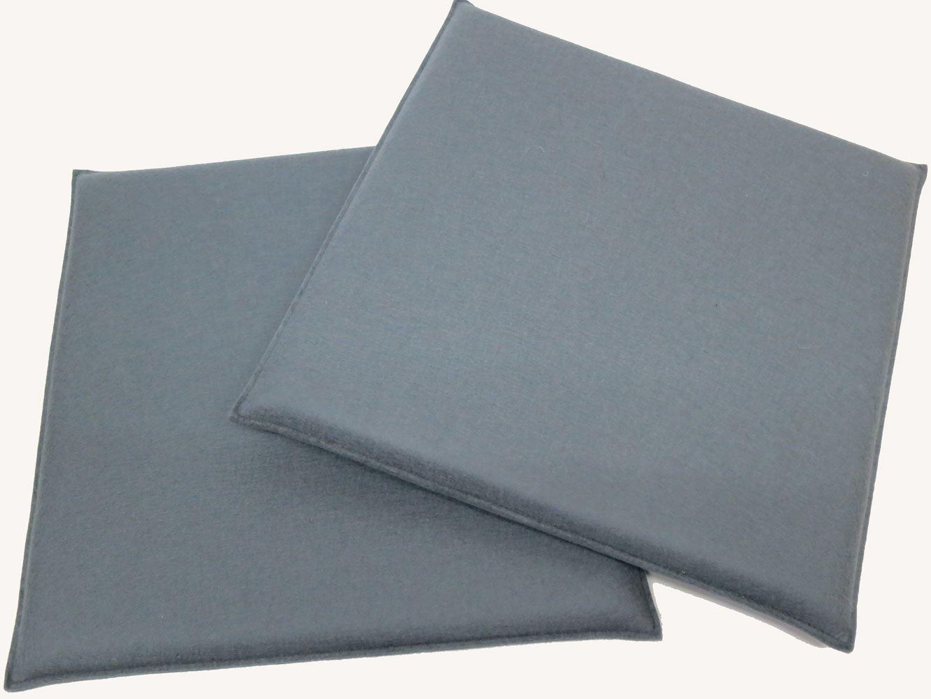 eckige sitzkissen aus filz ma e 37 x 37 cm in vielen farben. Black Bedroom Furniture Sets. Home Design Ideas