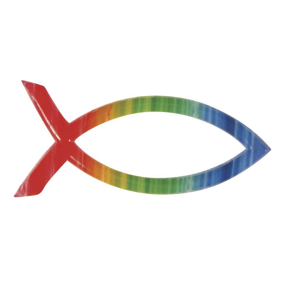 wachsmotiv christlicher fisch regenbogen von rayher