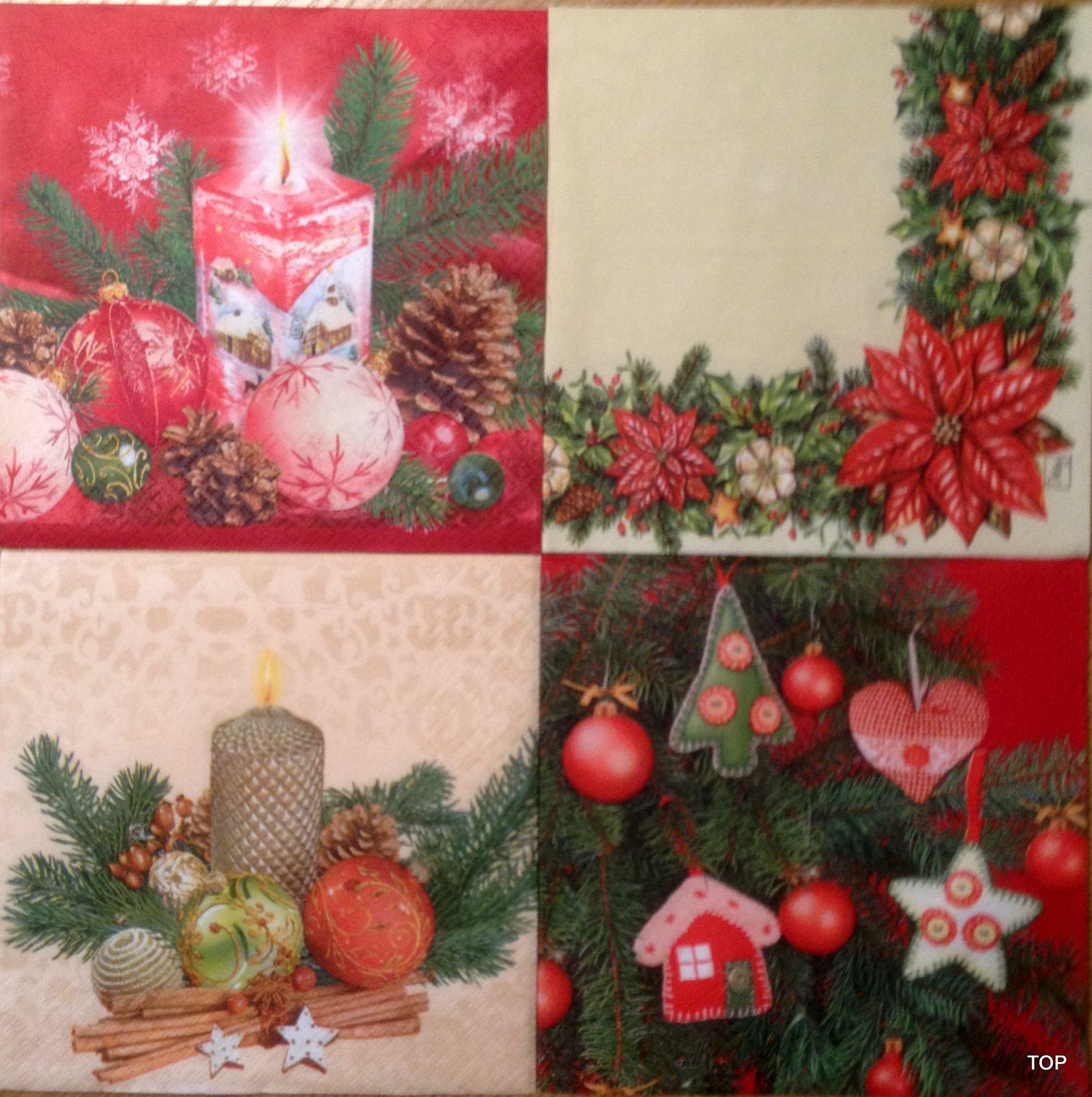 Servietten 5595 Weihnachtsmotive 1 Packung (20 Servietten)