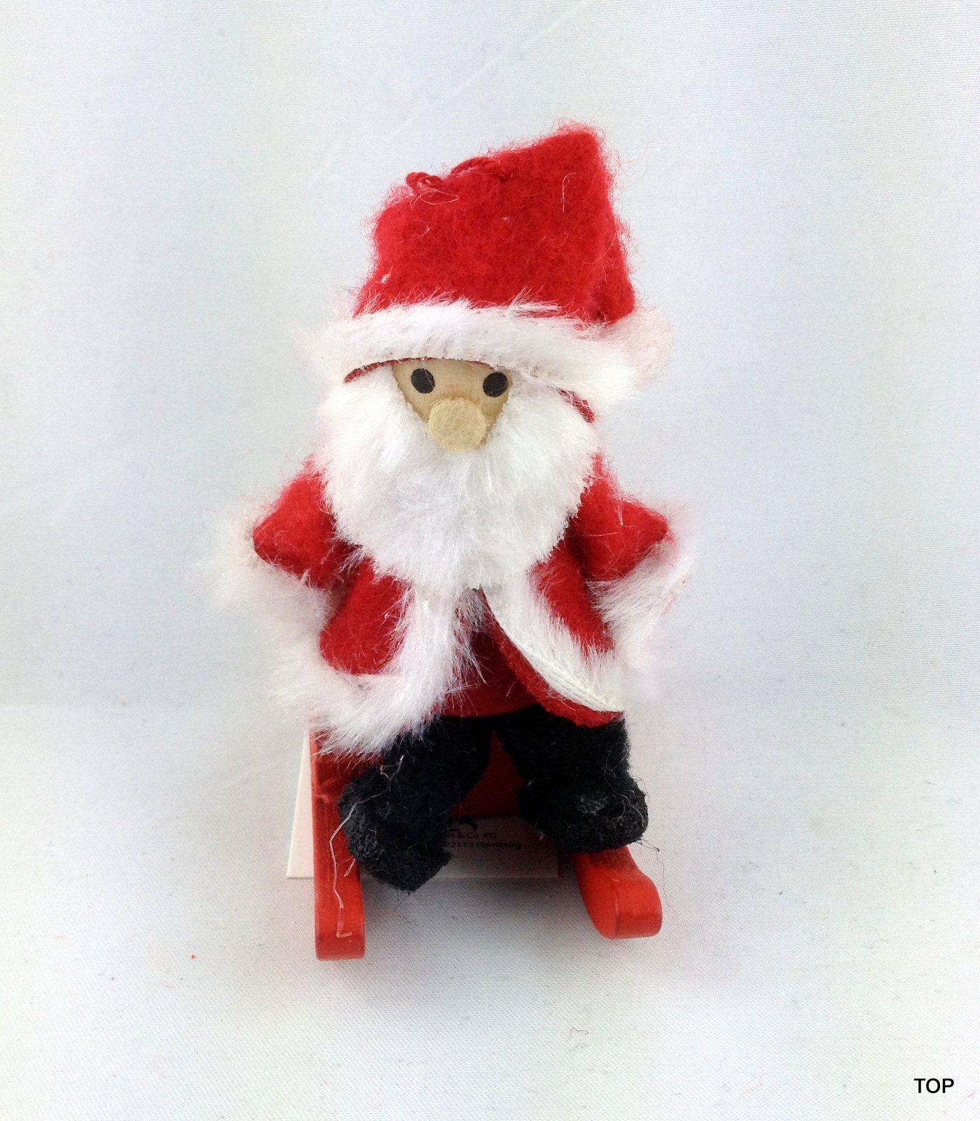 weihnachtsmann nikolaus auf einem schlitten zum aufh ngen weihnachten weihnachtsdekoration deko. Black Bedroom Furniture Sets. Home Design Ideas