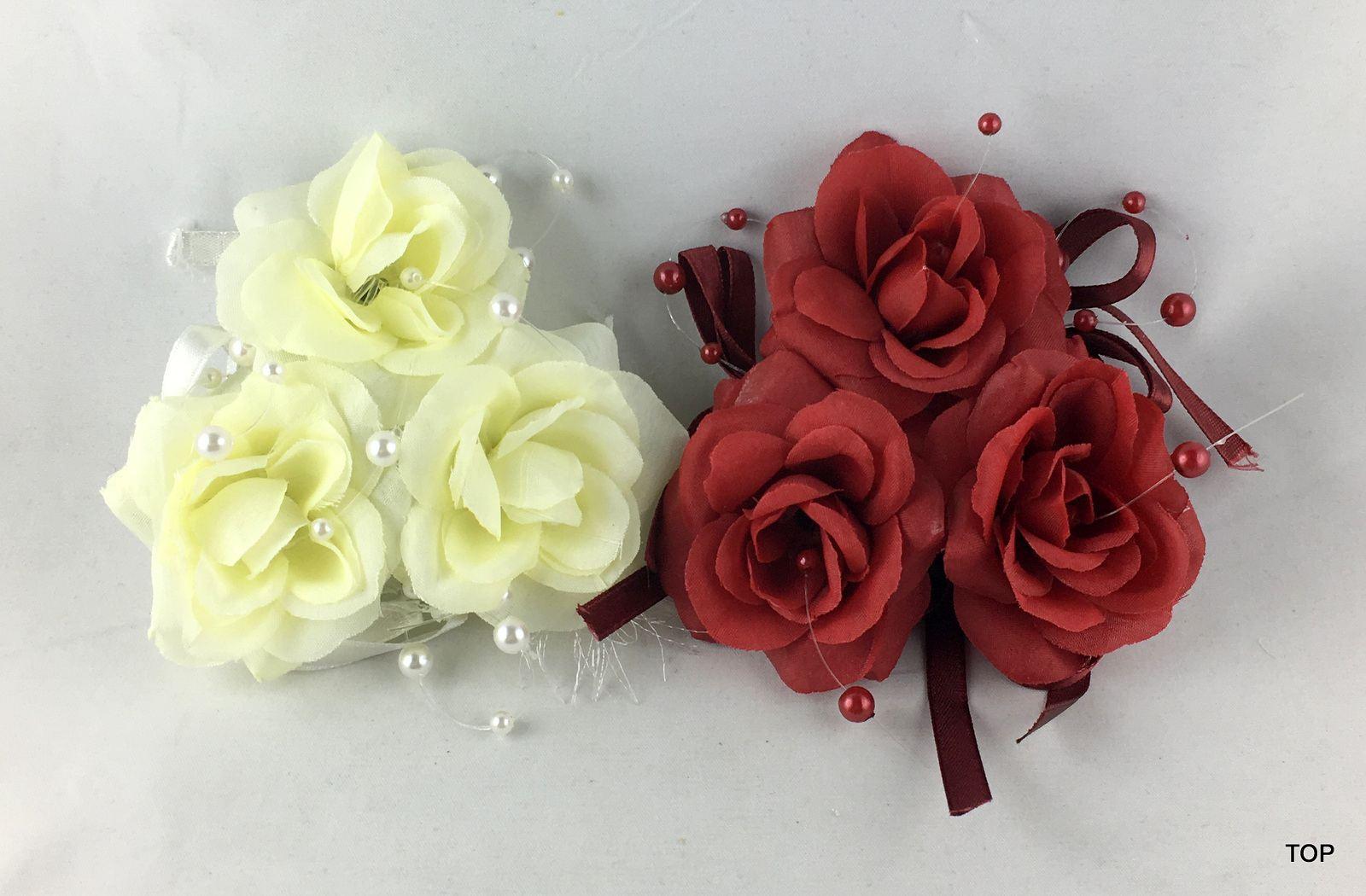 Variante Rosen Rot Rosen Rot Rosen Kerzenring Tischdeko Kerzen Kranz Zwei Verschiedene Farben