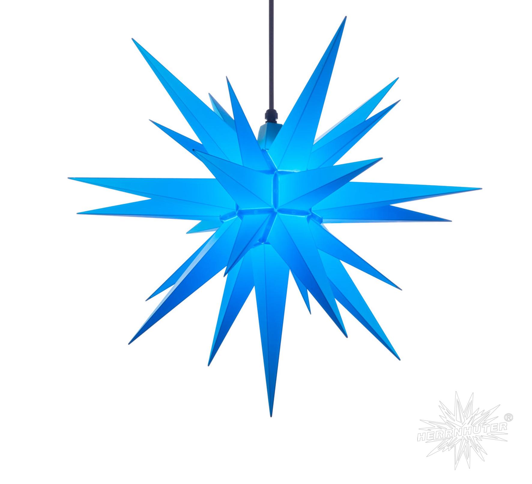 a7 blau kunststoff herrnhuter stern f r au en und innen. Black Bedroom Furniture Sets. Home Design Ideas