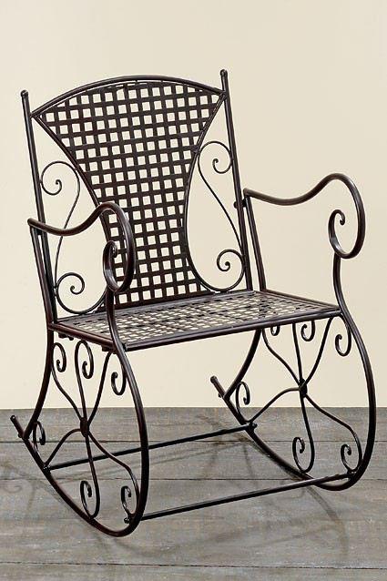 schaukelstuhl konya metall eisen braun nostalgie gartenm bel stuhl schauckelstuhl. Black Bedroom Furniture Sets. Home Design Ideas