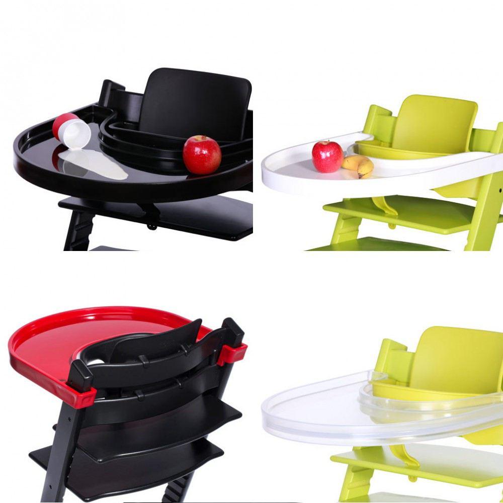 playtray tisch f r tripp trapp von stokke schwarz wei rot tischchen f r hochstuhl kinderstuhl. Black Bedroom Furniture Sets. Home Design Ideas
