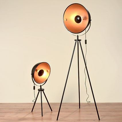 stehleuchte elias stehlampe klein lampe leuchte studiolampe teleskoplampe fotolampe tripod. Black Bedroom Furniture Sets. Home Design Ideas