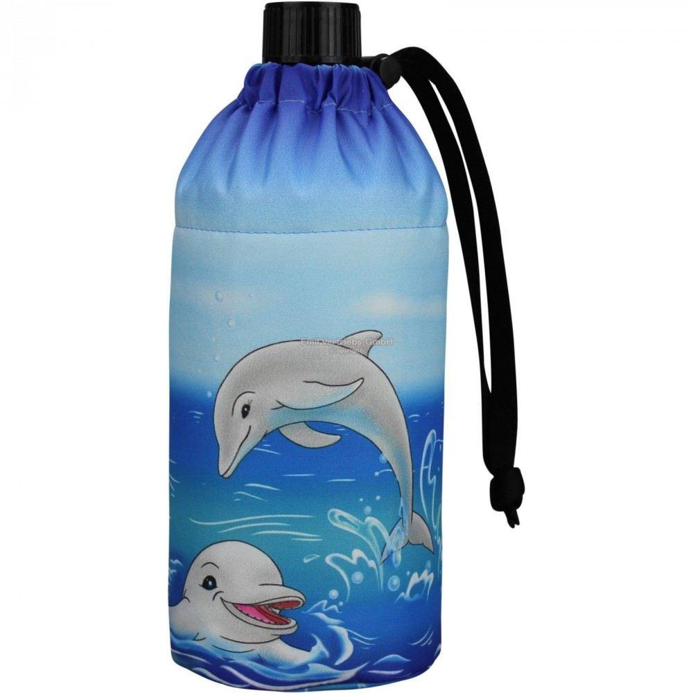 flasche 0 4 liter delfine glasflasche trinkflasche isolierflasche glas delfin delphin delphine. Black Bedroom Furniture Sets. Home Design Ideas