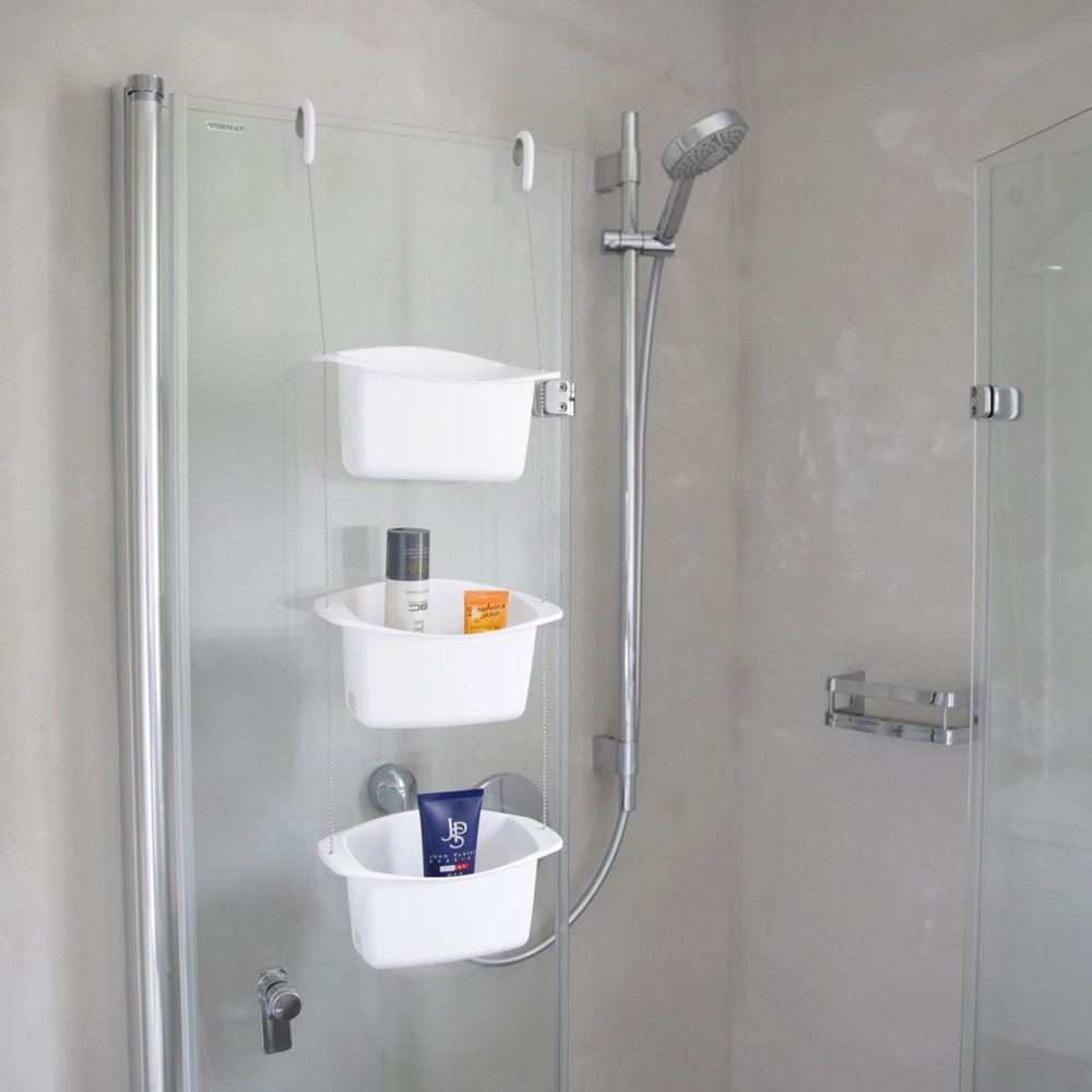 shower caddy oasis wei duschablage dusche regal ablage. Black Bedroom Furniture Sets. Home Design Ideas