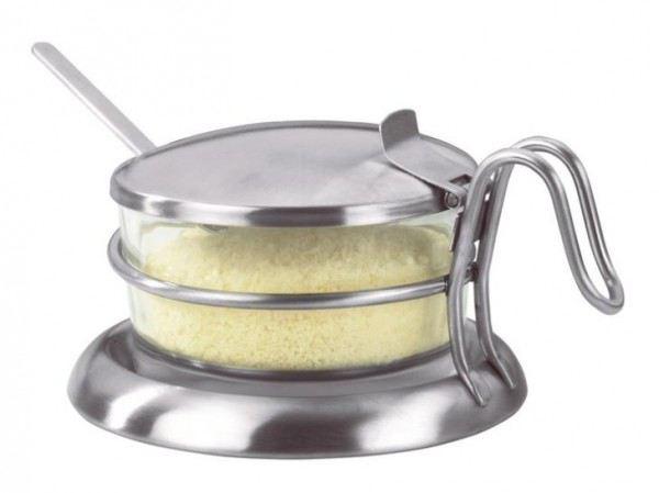 parmesan beh lter parmesanbeh lter mit deckel und l ffel glas aufbewahrung. Black Bedroom Furniture Sets. Home Design Ideas