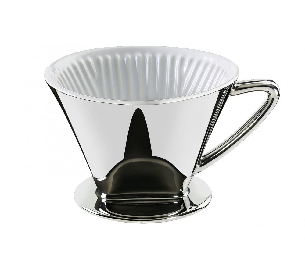 kaffeefilter gr e 4 silber kaffee filter 1x4 filterkaffee kaffeebereiter kaffeefilterhalter. Black Bedroom Furniture Sets. Home Design Ideas