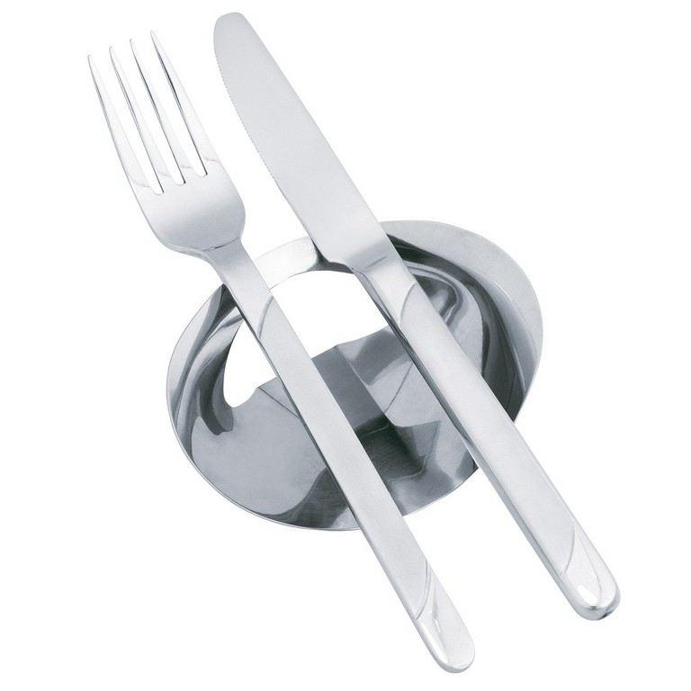 Serviettenring mit besteckablage 2er set serviettenhalter for Besteck tisch