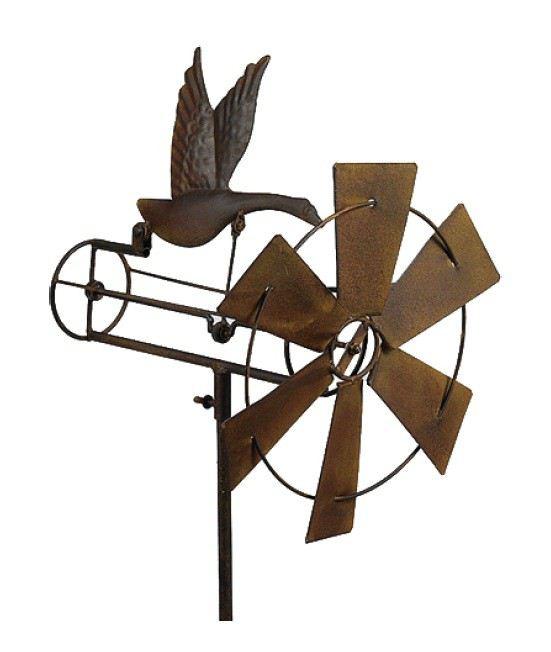 windspiel gans garten dekoration deko metall drau en balkon terrasse skulptur statue. Black Bedroom Furniture Sets. Home Design Ideas
