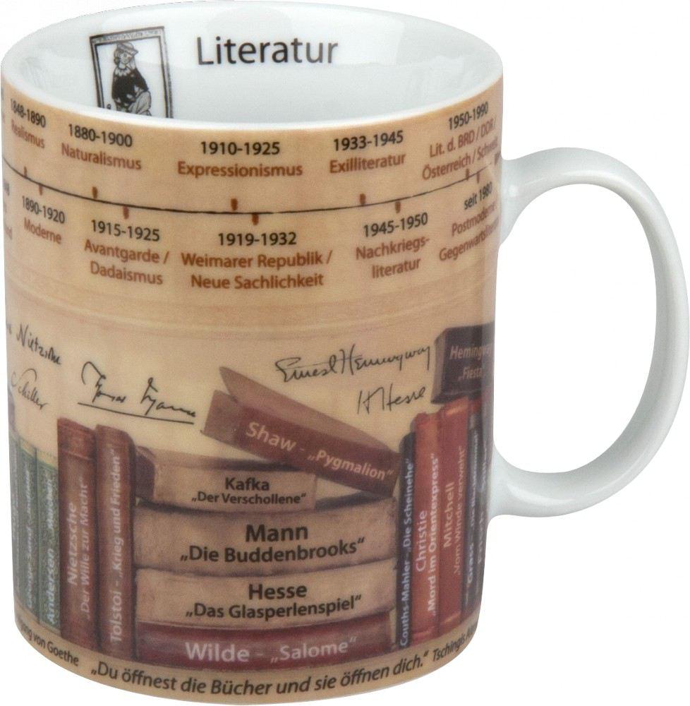 Becher Literatur Wissensbecher Themen-Becher Kaffeetasse Tasse ...