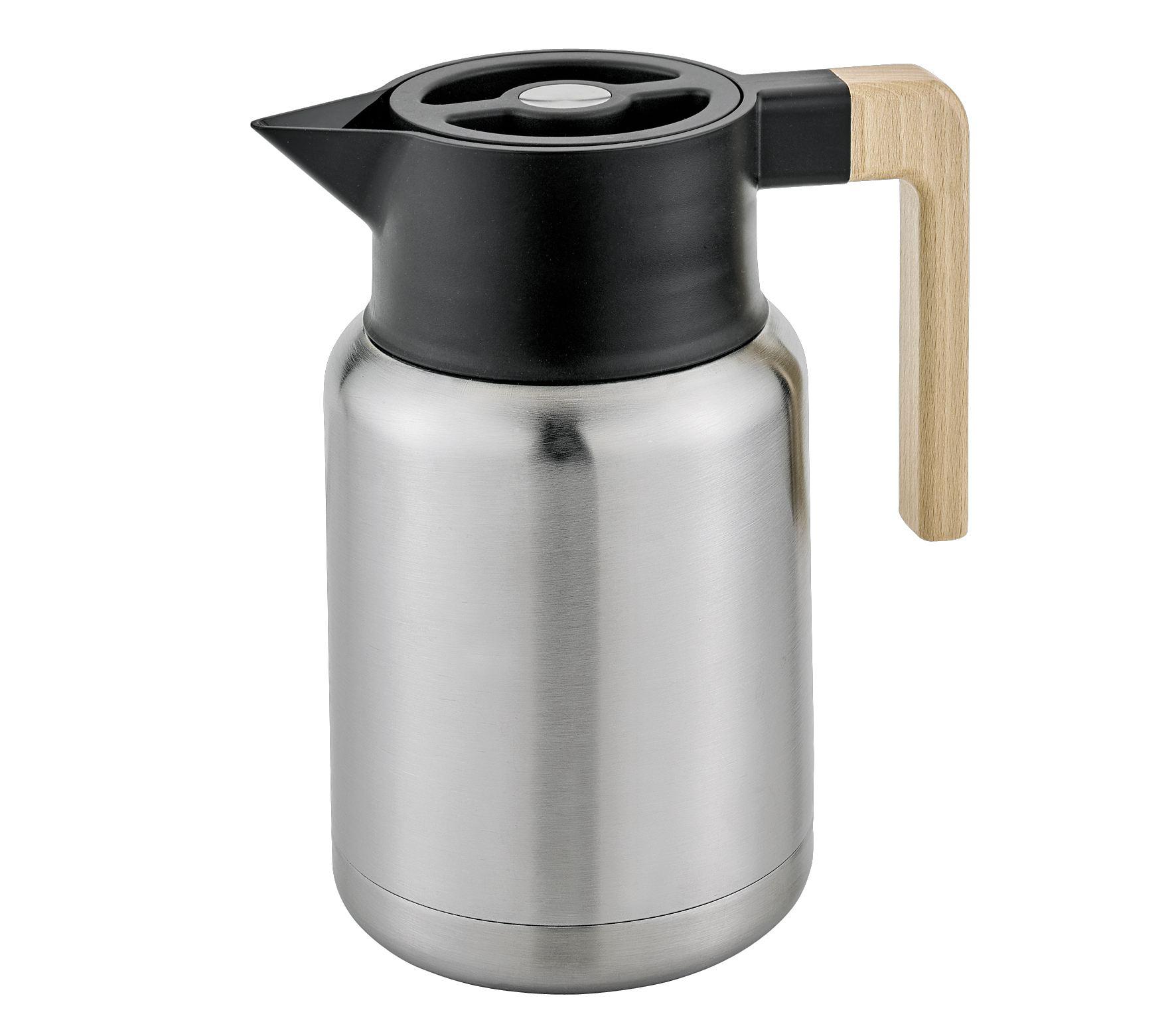 isolierkanne style 1 2 liter edelstahl thermoskanne teekanne kanne kaffeekanne edelstahlkanne. Black Bedroom Furniture Sets. Home Design Ideas