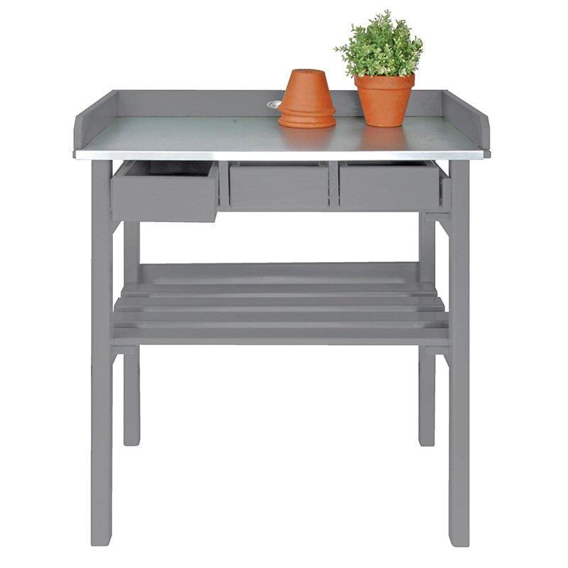 Pflanztisch grau tisch garten holz gartentisch - Gartentisch holz grau ...